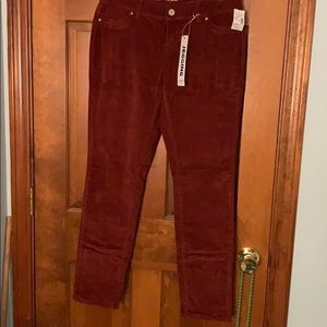Maurice Low Rise Corduroy Jeggings